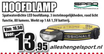 visblad 2016 Hoofdlamp