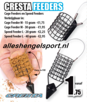 visblad 2016 Cresta feeders en speedfeeders